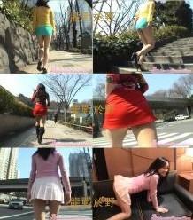 街�^跟踪搭�3名超短裙的女孩�K做��