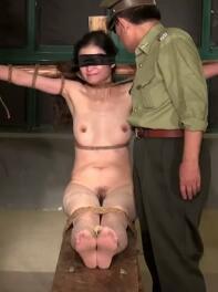 军统特务刑讯逼供女犯人脱光了坐老虎凳奶子插针用电电/剧照